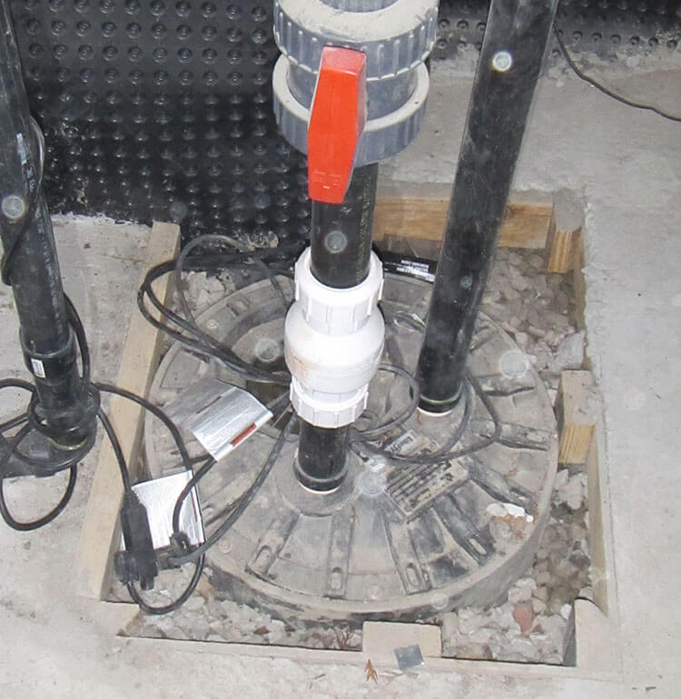 Sump Pump Installed in a Basement